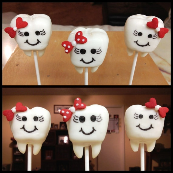 Adorable Tooth Teeth Cake Pops