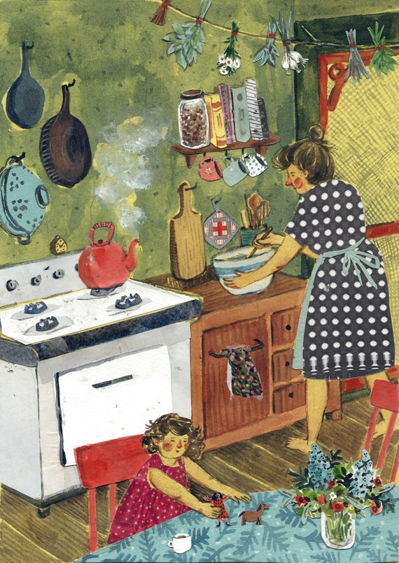 Afternoon in the Kitchen print