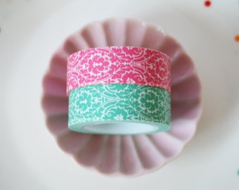 Mint and Pink  Washi Tape Set of 2