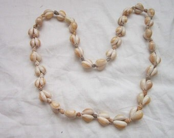 Antique Sea Shell 32 Inch Long Necklace Very Artistic