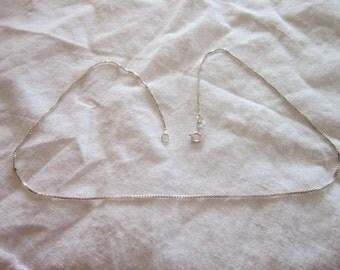 Vintage Italian Sterling Silver Box Chain Necklace 925 Pretty
