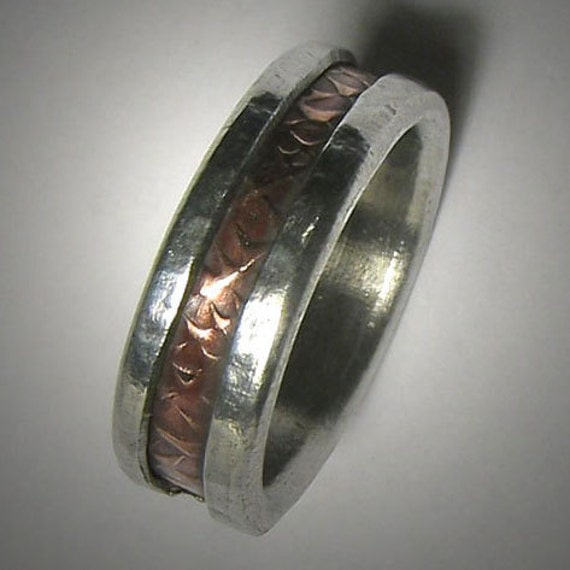 rustic wedding band for or custom handmade