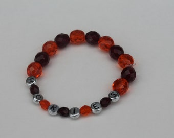 Virginia Tech elastic bracelet with VT or HOKIE