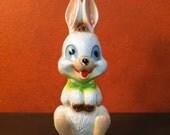 SALE Silly Rabbit. Vintage Kitsch Large Popart Bunny Rabbit Ceramic Figurine