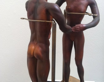 Pair of 1940s articulated artist mannequins