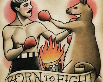Boxer and Boxing Kangaroo Tattoo Art