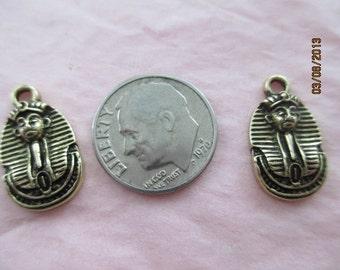 2 Metal Pharoahs for Jewelry Making