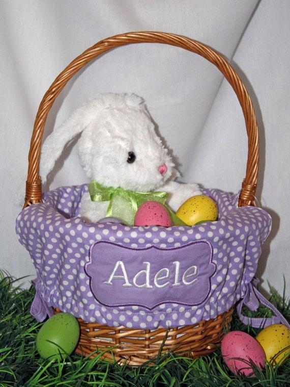 Monogrammed Easter Basket Liner