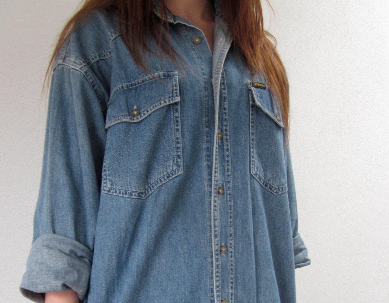 20 off vtg wrangler oversized denim shirt jacket for Wrangler denim shirts uk