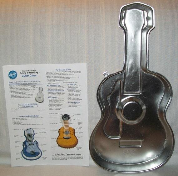 Wilton Guitar Cake Pan Instructions