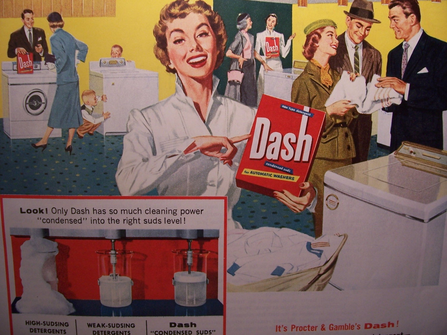 1950s Dash Laundry Soap Vintage Advertising By