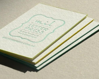 Samples + Expedited shipping - Letterpress Business Cards already printed x 40