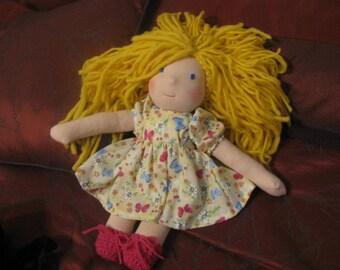 Custom Waldorf Style 15 Inch Doll