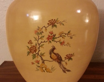 Bird and Flowers Vase
