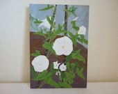 Japanese Flower Painting - White Poppies