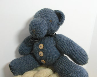 Knitted Teddy Bear, soft toy bear