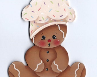 Gingerbread Baby Chef Painting E-Pattern
