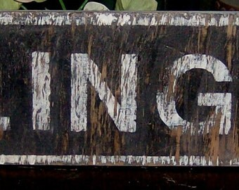 Decorative distressed Arlington sign