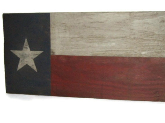 Distressed Hand Painted Texas Flag Wall