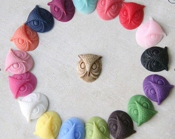 12 pcs of resin owl cabochon 15mm-RC1056--mix  color