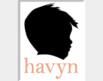 Custom Child's Silhouette and Name