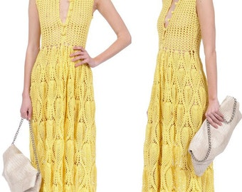 50% sale off- READY TO SHIP Maxi crochet dress Active