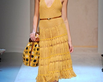 FERRAGAMO DRESS summer collection - Made to order in 10 days