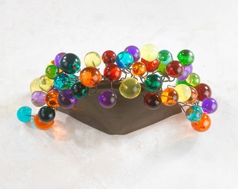 Wall Sconce lighting with multicolored bubbles, lamp for bathroom, living room.