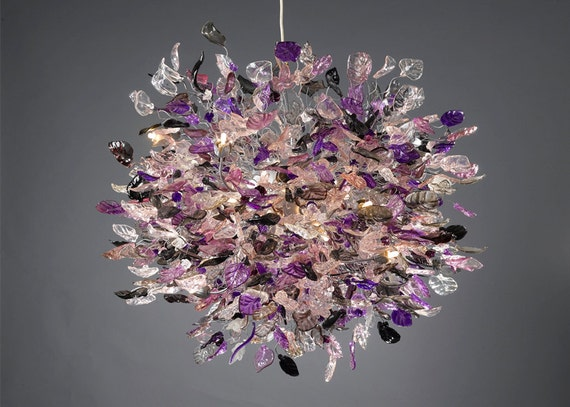 Huge Ceiling Lamp 40 Diameter Transparent Purple And Gray