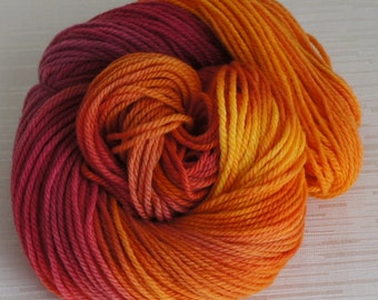 Hand Painted Yarn, Hand Dyed Pure Wool 160 yards, Worsted Weight