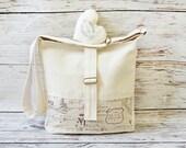 Large Victorian chic cross-body bag/ Messenger bag / Shoulder bag /  Laptop bag / Nappy bag