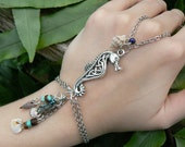 seahorse bracelet slave bracelet seahorse abalone mermaids bohemian gypsy cruise wear high fashion gypsy boho hipster beach