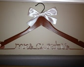 URGENT RUSH ORDER and Over Night shipping for Personalized wedding Hanger