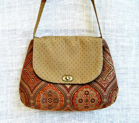 Unique Fabric Bag - Crossbody Handbag - Cross Body Purse