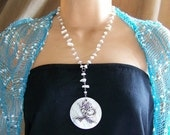 White Mermaid Necklace Mother of Pearl 484
