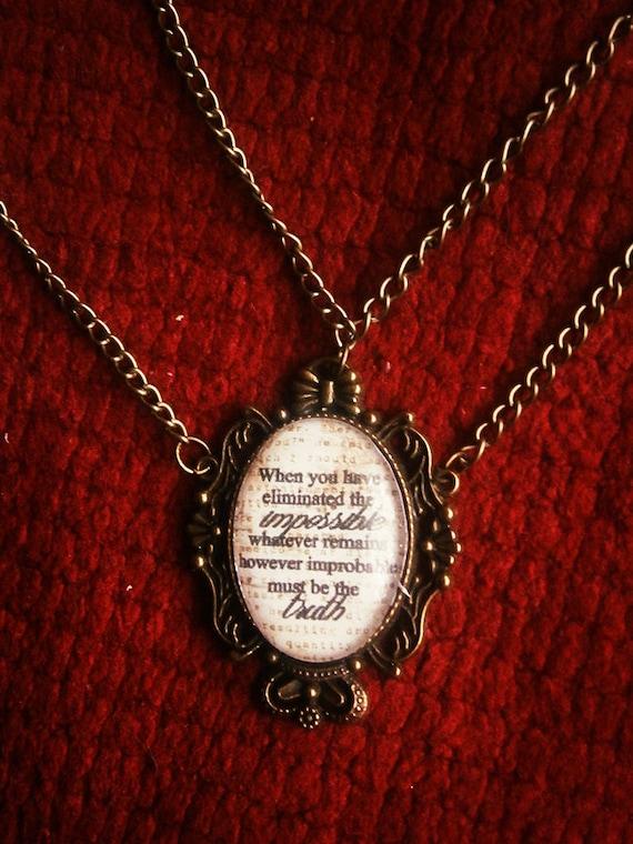 However improbable - Sherlock Holmes inspired necklace
