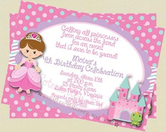 Printable Princess Birthday Invitation