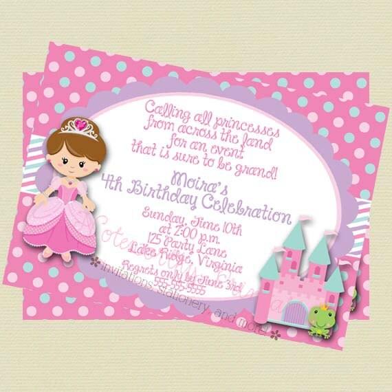 Printable Princess Birthday Invitation