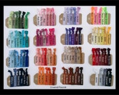 33% Off, YOU PICK 15 COLORS Elastic Hair Ties - No Bump, Assorted Colors, Yoga Hair Ties - Sale