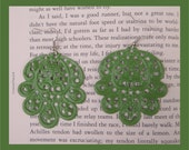 Green Large Victorian BOHO CHIC Filigree EARRINGS, Lightweight, You can pick color