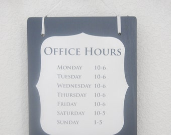 Business hours sign   Etsy