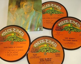 RARE EARTH Coasters vinyl record coasters