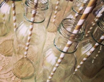 Milk Bottles, Vintage Bottles, Glass Milk Bottles: Set of 100 Weddings, Baby Showers, Bridal Showers, Mason Jars