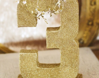 Glitter Birthday Number - As Seen on Hostess with the Mostess - One Stylish Party
