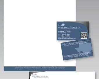 Logo &  Business Design Package - Custom Logo, Business Card, Letterhead