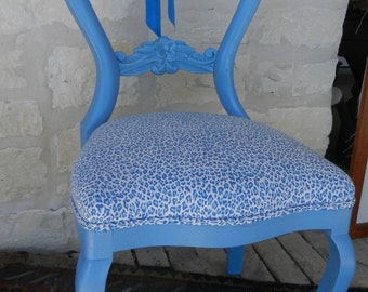 Vibrant Blue/Bling Chair