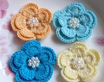 60 Crochet Flowers With Pearls YH-160-05