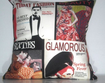 fashion magazines cushion cover 40x40 cm 16x16 inches