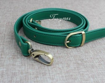 Green Color Synthetic Leather Bag Purse Replacement Straps