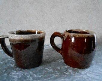 2- Coffee Mugs, 1-Marked McCoy1-Not Marked